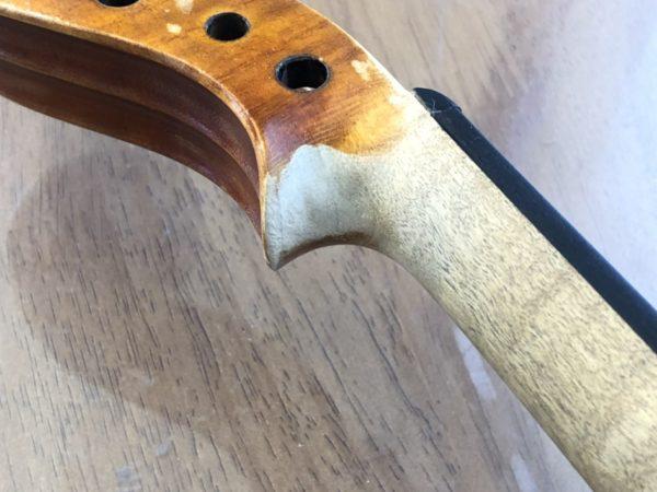 修理事例⑦ ニスの補修Ⅲ スクロールの裏側